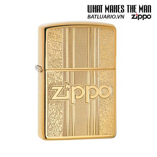 Zippo 29677 - Zippo Engraved Pattern High Polish Brass
