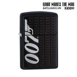 Zippo 29718 - Zippo James Bond 007 Emblem Black Matte