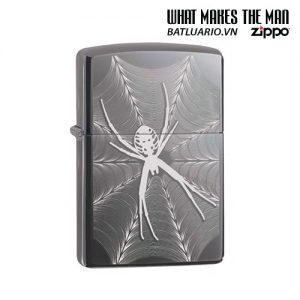 Zippo 29733 - Zippo Engraved Spider and Web Black Ice