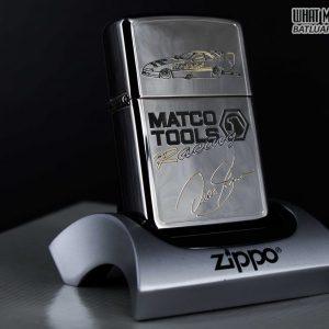 GIFT SET – ZIPPO LA MÃ 1995 – SILVER PLATE – MATCO TOOLS RACING 14