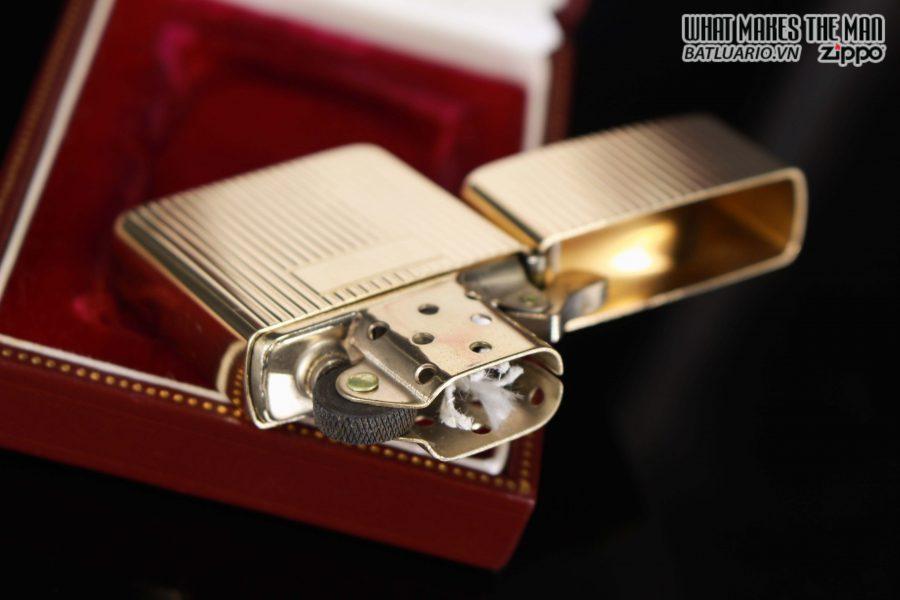 HIẾM – ZIPPO 1960 – 1970S – SOLID GOLD 14KT – VÀNG NGUYÊN KHỐI 15