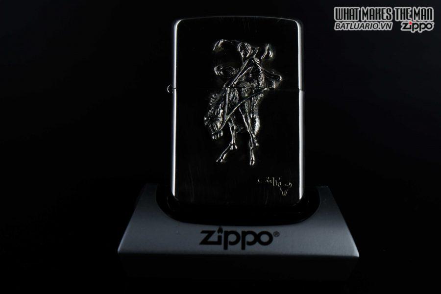 HIẾM - ZIPPO LA MÃ 1990 - RODEO MARLBORO - STERLING SILVER - LIMITED / 3000 10