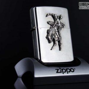 HIẾM - ZIPPO LA MÃ 1990 - RODEO MARLBORO - STERLING SILVER - LIMITED / 3000