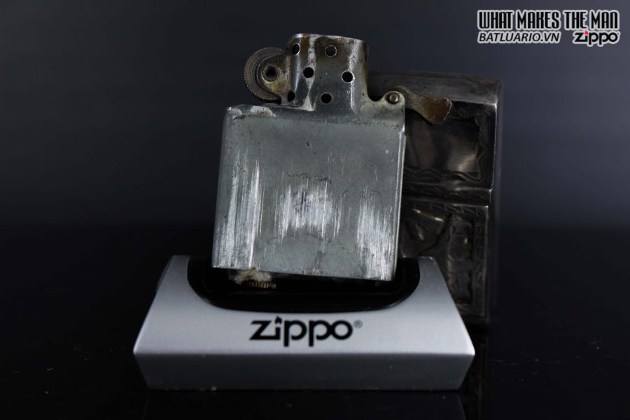 ZIPPO 1940S – BẠC KHỐI GUATEMALA – STERLING SILVER 900 – LOGO BẠC KHỐI 5