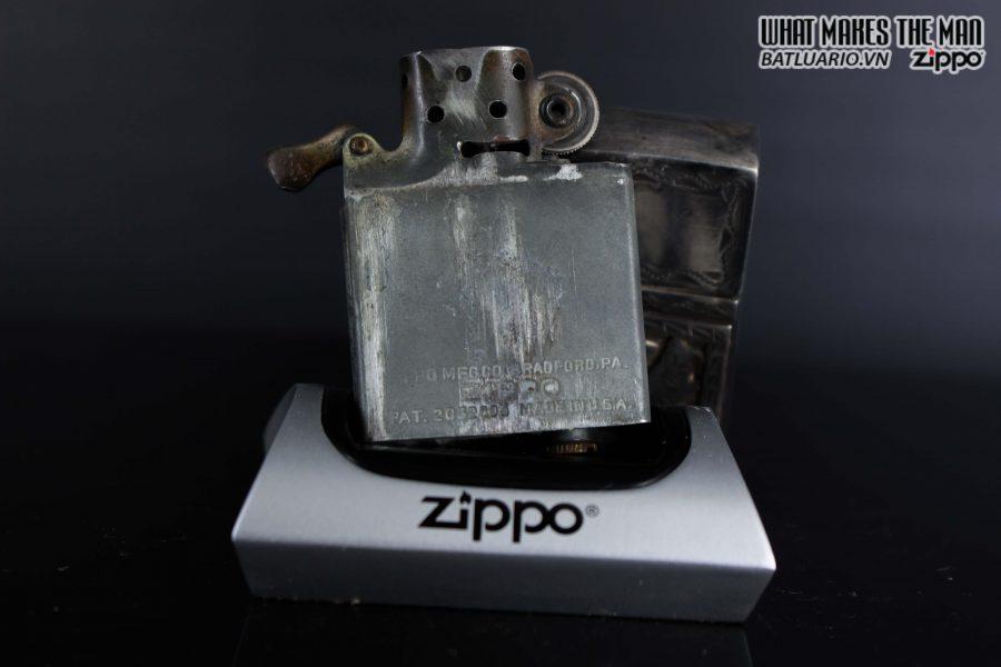 ZIPPO 1940S – BẠC KHỐI GUATEMALA – STERLING SILVER 900 – LOGO BẠC KHỐI 6