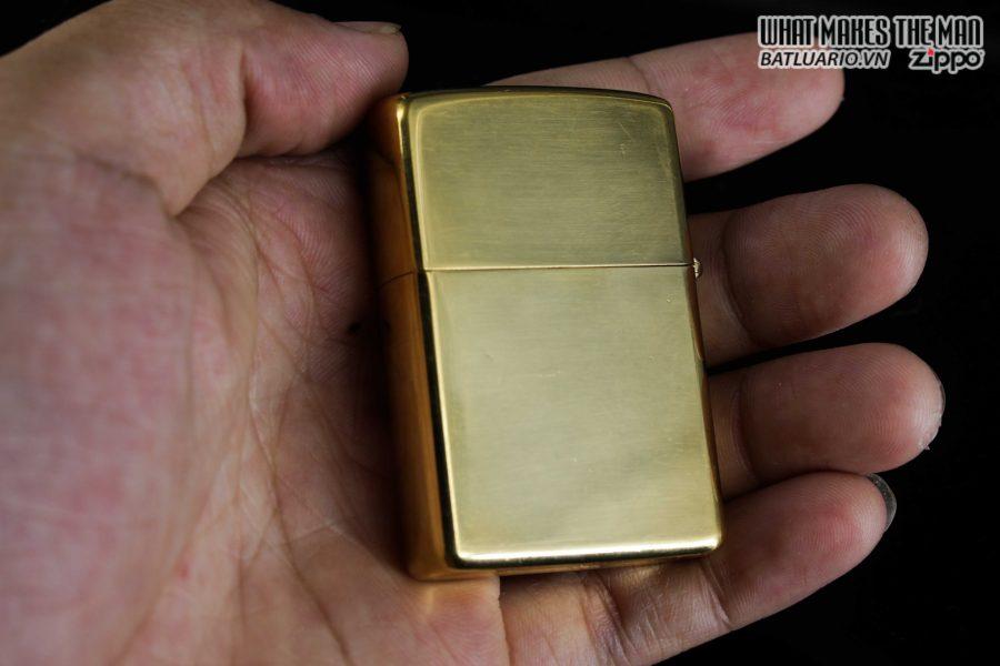 ZIPPO 1981 – HIGH POLISHED GOLD PLATE – MẠ VÀNG 2