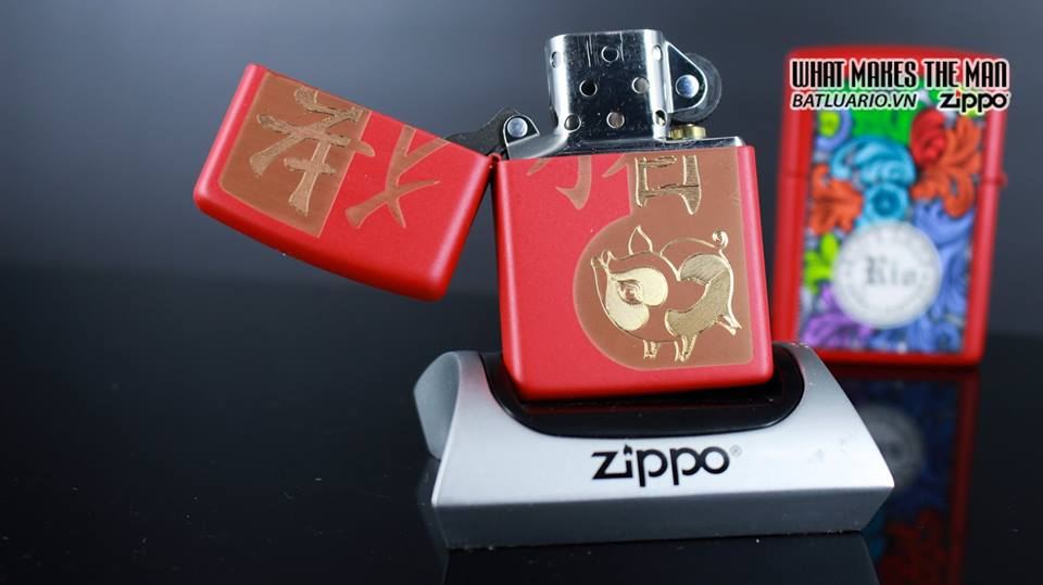 Zippo 29661 - Zippo Chinese Year of the Pig Red Matte 10