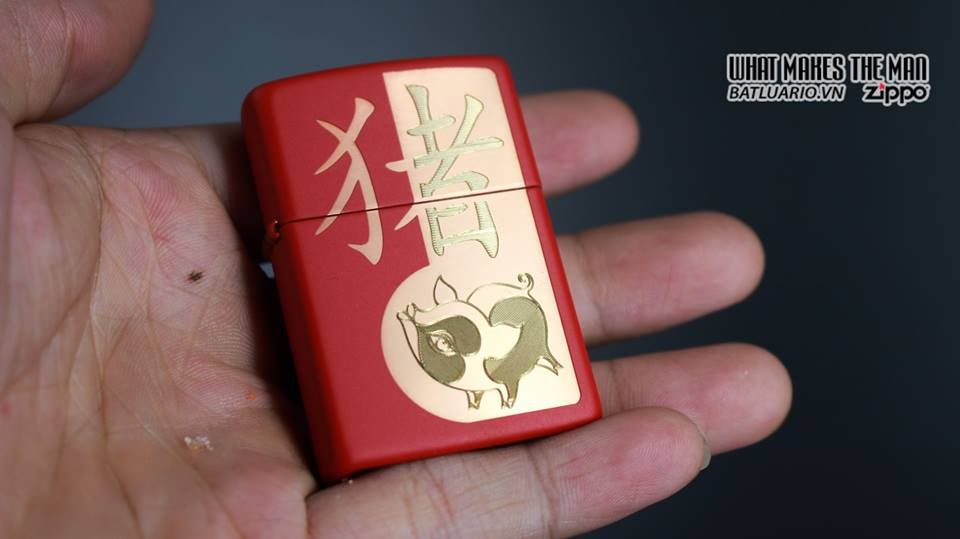 Zippo 29661 - Zippo Chinese Year of the Pig Red Matte 13