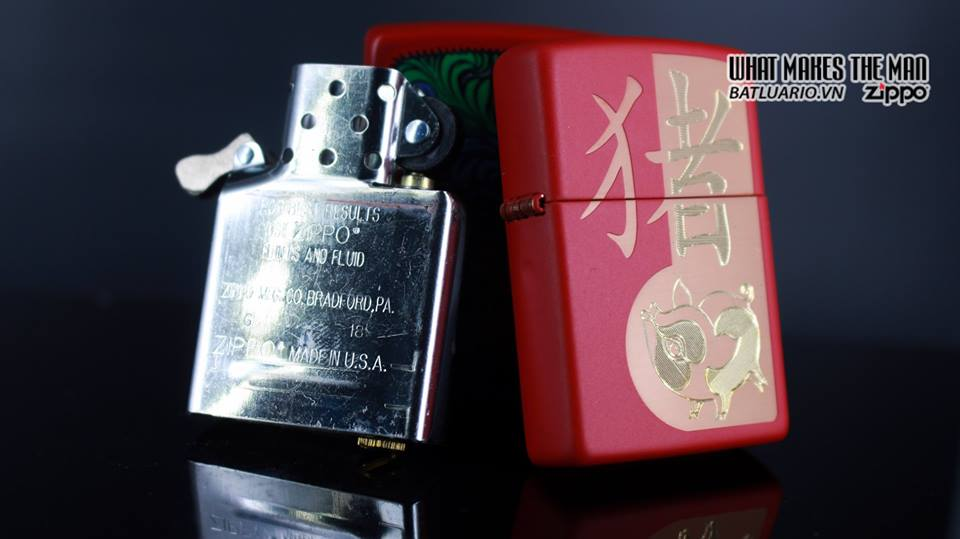 Zippo 29661 - Zippo Chinese Year of the Pig Red Matte 14