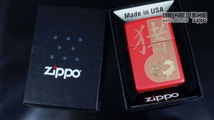 Zippo 29661 - Zippo Chinese Year of the Pig Red Matte 6