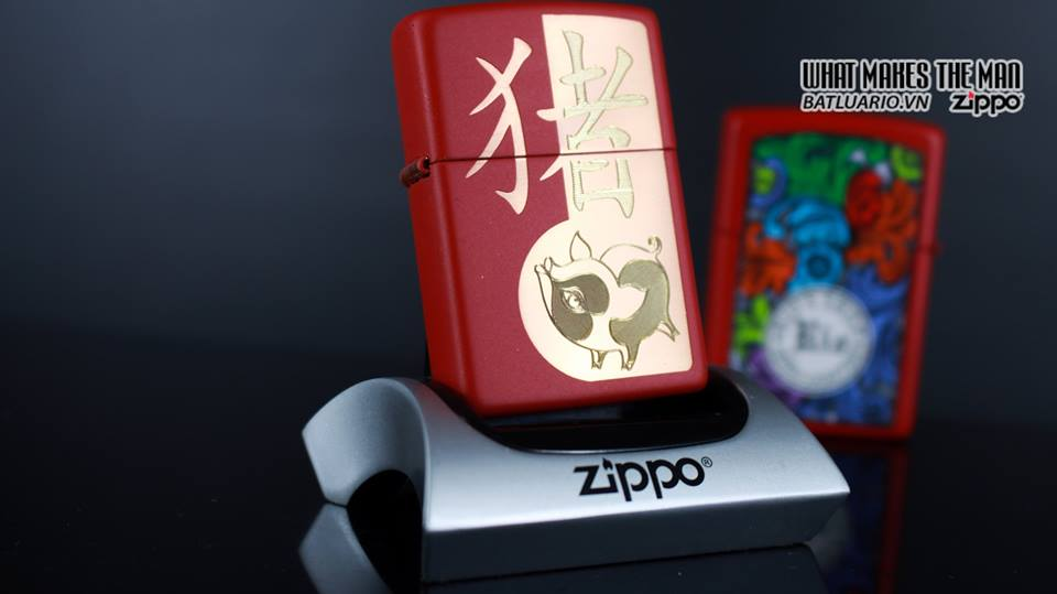 Zippo 29661 - Zippo Chinese Year of the Pig Red Matte 7