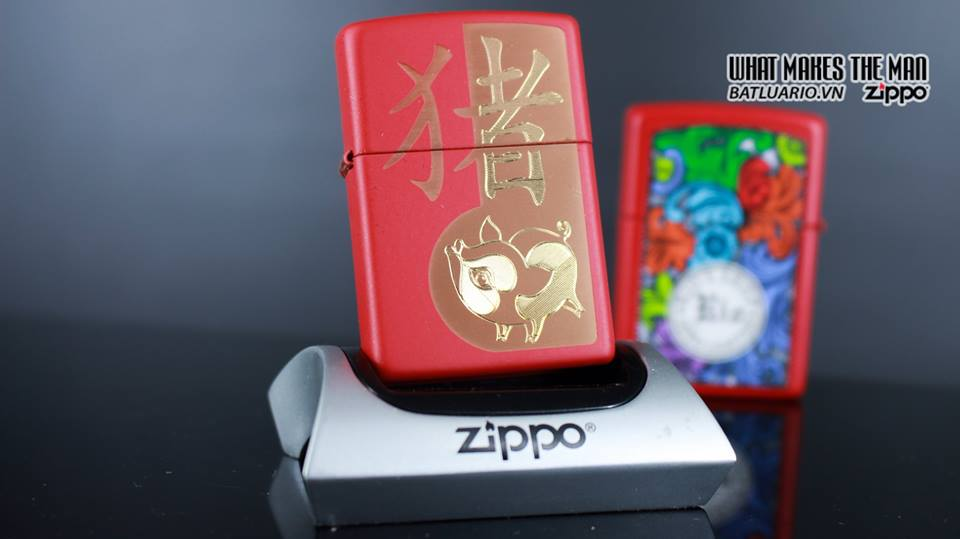 Zippo 29661 - Zippo Chinese Year of the Pig Red Matte 8