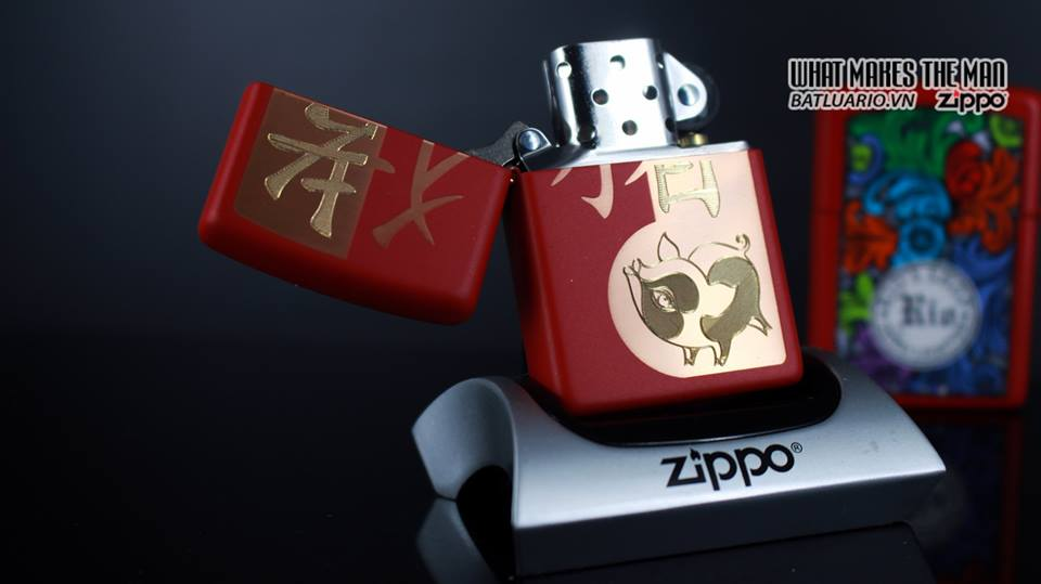 Zippo 29661 - Zippo Chinese Year of the Pig Red Matte 9