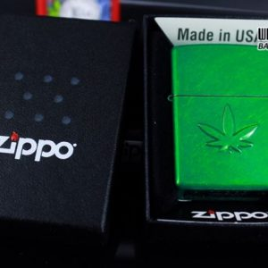 Zippo 29662 - Zippo Stamped Weed Leaf Meadow 6