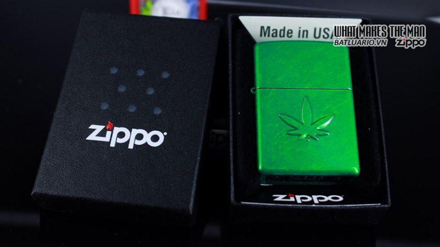 Zippo 29662 - Zippo Stamped Weed Leaf Meadow 6