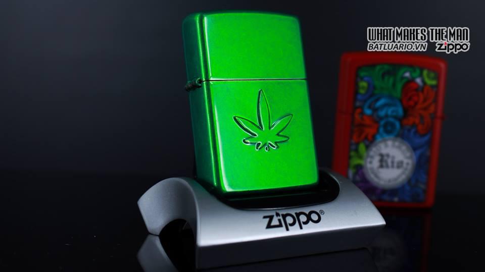 Zippo 29662 - Zippo Stamped Weed Leaf Meadow 7