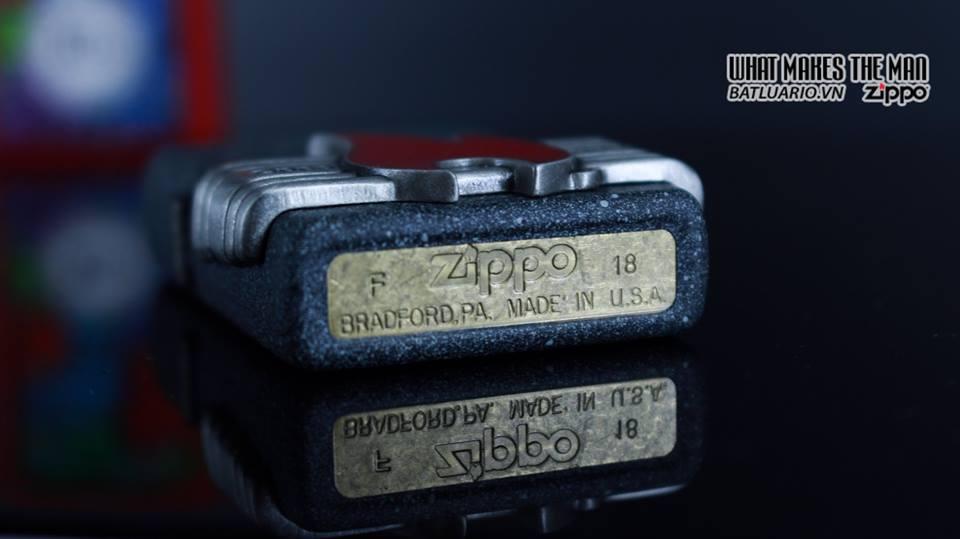 Zippo 29663 - Zippo Vintage Red Flame Wrap Iron Stone 13