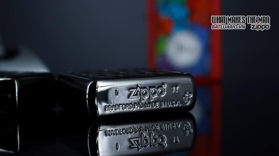 Zippo 29665 - Zippo Armor Flower Pattern Black Ice 11