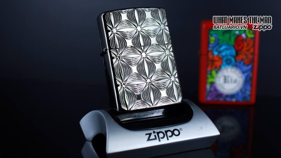 Zippo 29665 - Zippo Armor Flower Pattern Black Ice 7