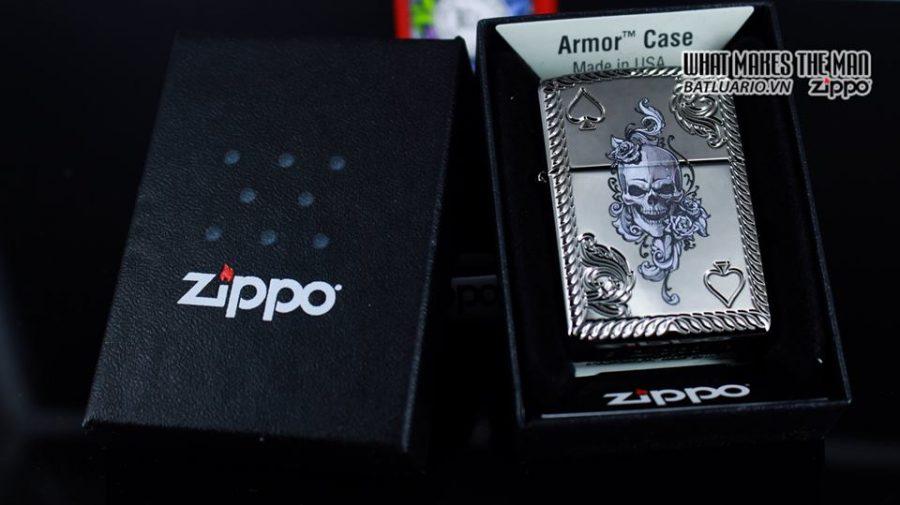 Zippo 29666 - Zippo Armor Skull and Spades Black Ice 7