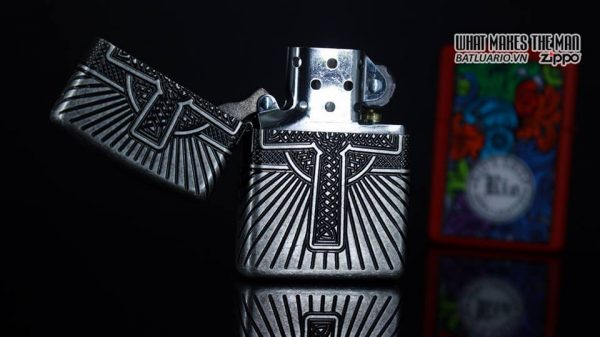 Zippo 29667 - Zippo Armor Multicut Celtic Cross and Knot Antique Silver 18