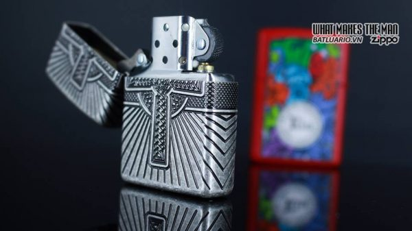 Zippo 29667 - Zippo Armor Multicut Celtic Cross and Knot Antique Silver 20