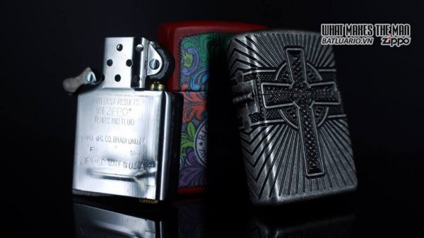 Zippo 29667 - Zippo Armor Multicut Celtic Cross and Knot Antique Silver 22