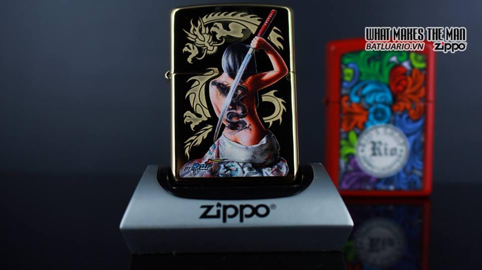 Zippo 29668 - Zippo Mazzi Samurai Girl High Polish Brass 11