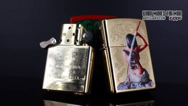 Zippo 29668 - Zippo Mazzi Samurai Girl High Polish Brass 13