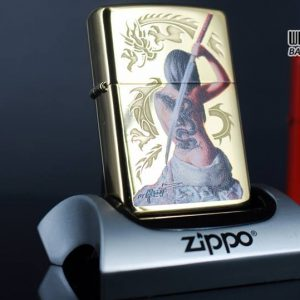 Zippo 29668 - Zippo Mazzi Samurai Girl High Polish Brass 8