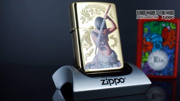 Zippo 29668 - Zippo Mazzi Samurai Girl High Polish Brass 8
