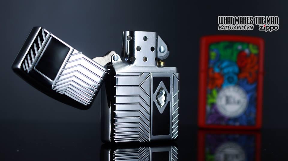 Zippo 29669 - Zippo Armor Deep Carve and Crystal High Polish Chrome 10