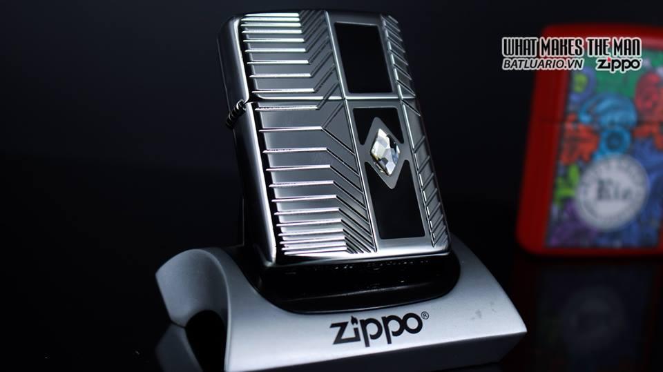 Zippo 29669 - Zippo Armor Deep Carve and Crystal High Polish Chrome 7