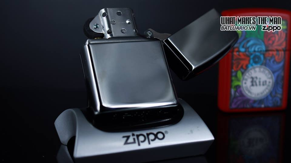 Zippo 29669 - Zippo Armor Deep Carve and Crystal High Polish Chrome 9