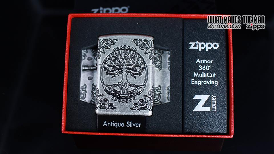 Zippo 29670 - Zippo Armor Multicut Tree of Life Antique Silver 9