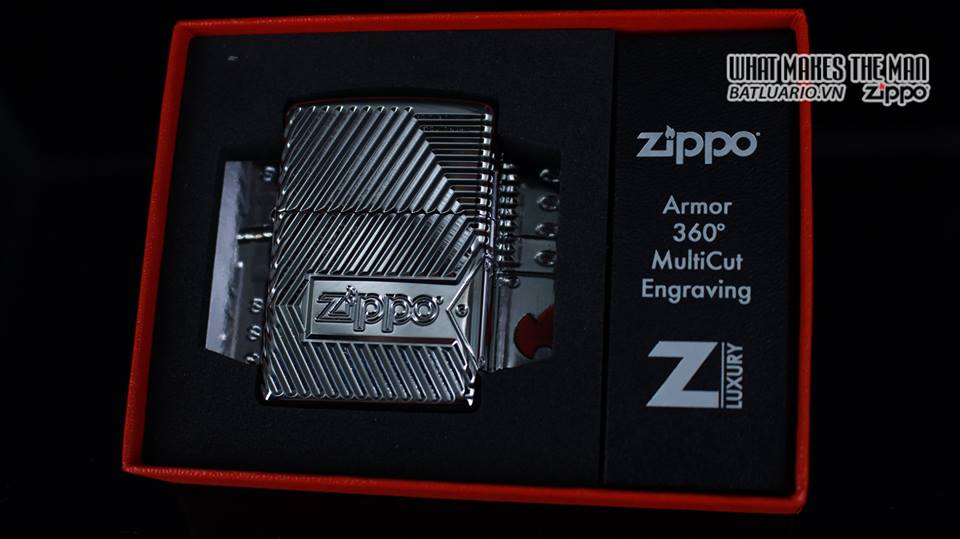 Zippo 29672 - Zippo Armor Multicut Bolts and Flame High Polish Chrome 21