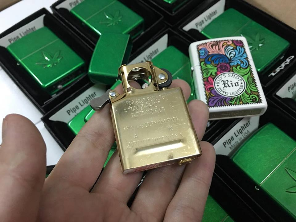 Zippo 29673 - Zippo Pipe Stamped Weed Leaf Meadow 5