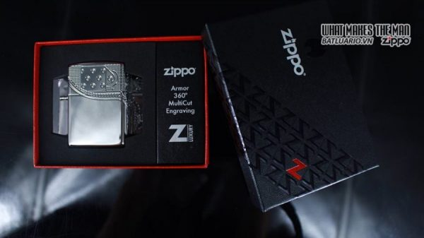 Zippo 29674 - Zippo Armor Multicut Insert Zipper High Polish Chrome 9