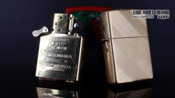 Zippo 29675 - Zippo Diagonal Weave Brass 17