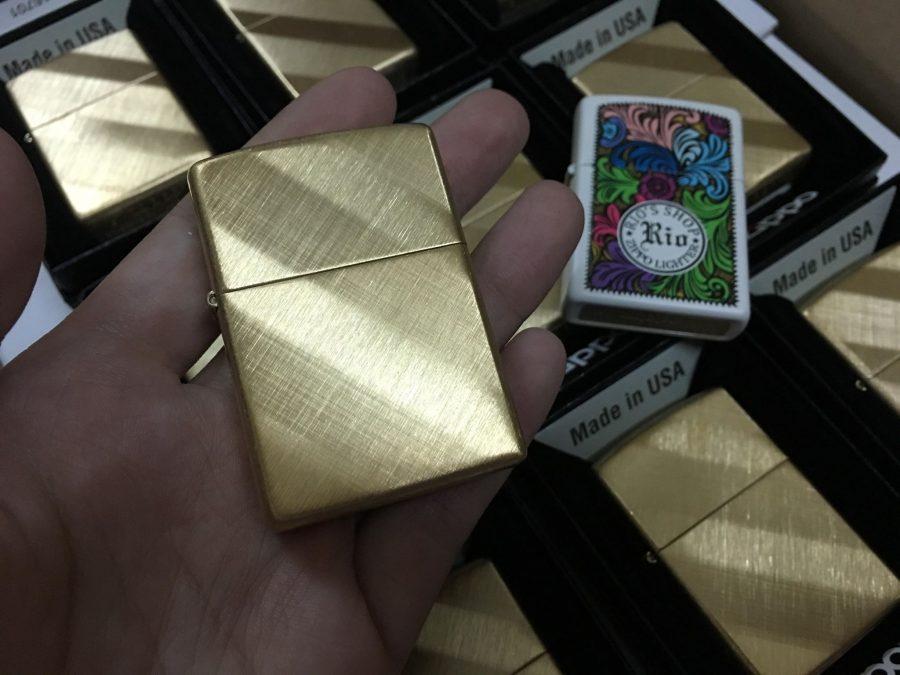 Zippo 29675 - Zippo Diagonal Weave Brass 4