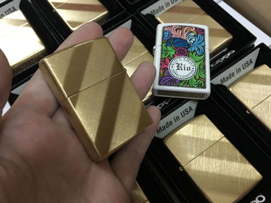 Zippo 29675 - Zippo Diagonal Weave Brass 5