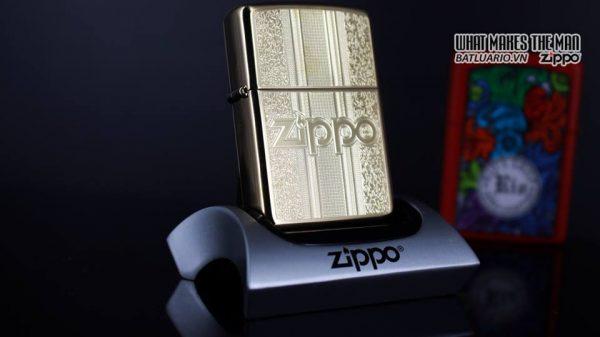 Zippo 29677 - Zippo Engraved Pattern High Polish Brass 10