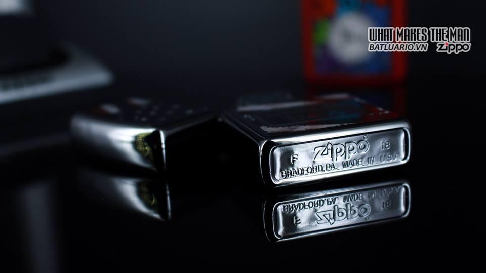 Zippo 29679 - Zippo Made in USA with Flag High Polish Chrome 12
