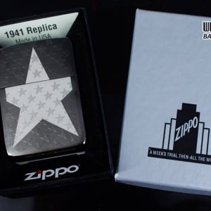 Zippo 29680 - Zippo Stars Replica Engraved Stars Black Ice 7