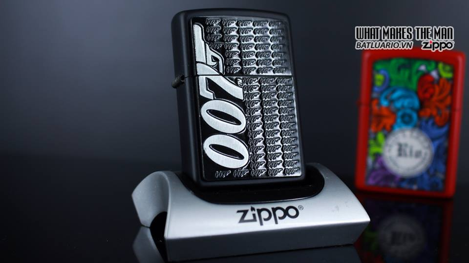 Zippo 29718 - Zippo James Bond 007 Emblem Black Matte 2
