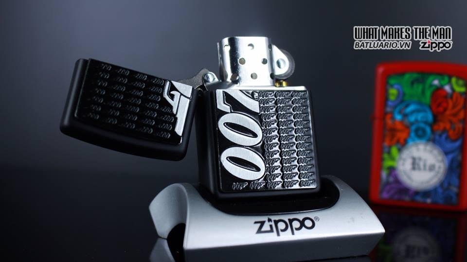 Zippo 29718 - Zippo James Bond 007 Emblem Black Matte 3