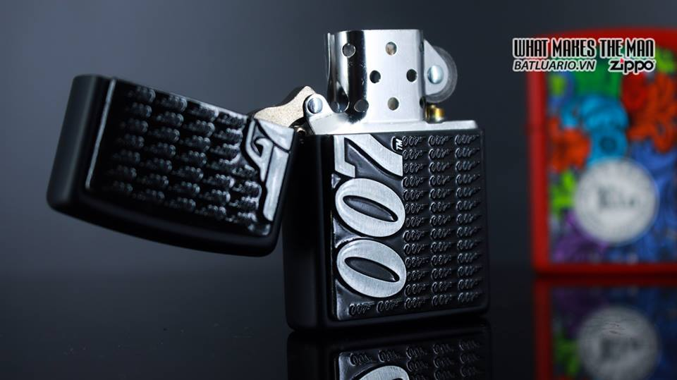 Zippo 29718 - Zippo James Bond 007 Emblem Black Matte 6