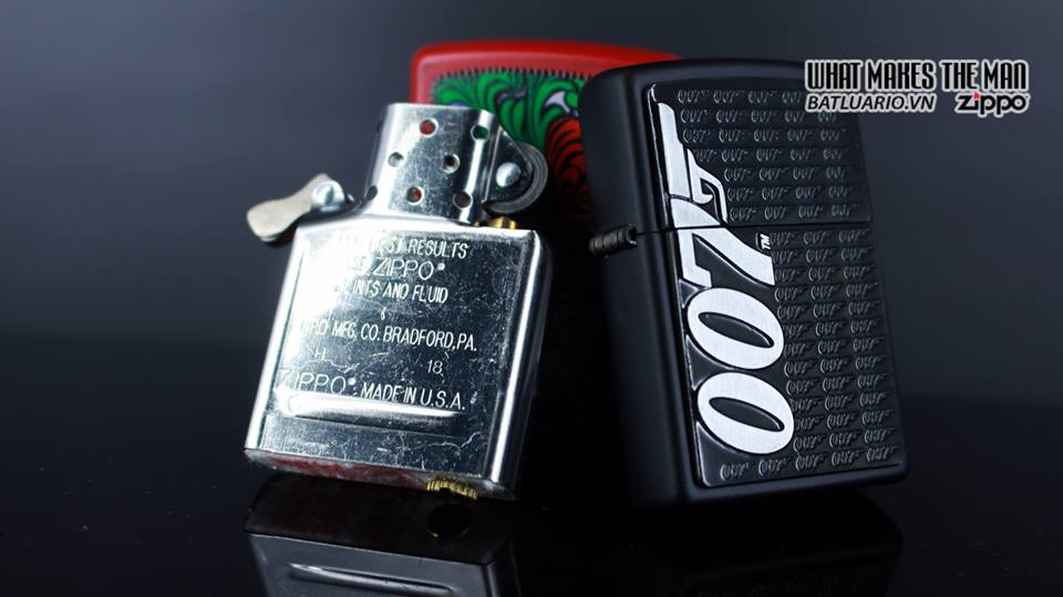 Zippo 29718 - Zippo James Bond 007 Emblem Black Matte 7