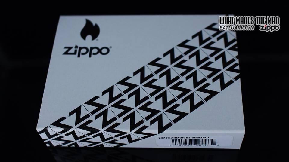Zippo 29719 - Zippo St. Benedict Design 360 Multicut Antique Brass Armor 11