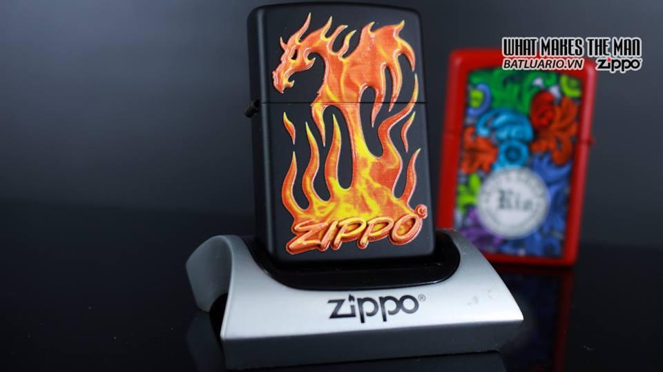 Zippo 29735 - Zippo Flaming Dragon Black Matte 8